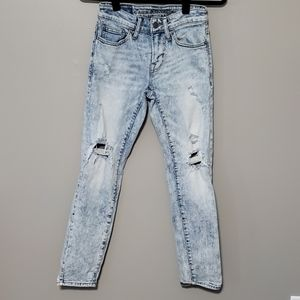 👖 AE acid wash distressed skinny jeans